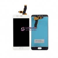 Дисплей Meizu M5s с сенсором (тачскрином) белый