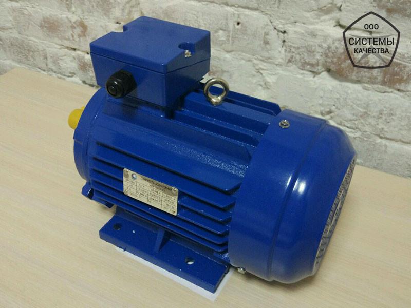 Электродвигатель АИР90L6 - 1,5 кВт 1000 об/мин. Асинхронный Трехфазный.