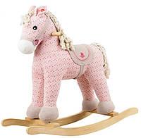 Игрушечная пони-качалка с музыкой Rock My Baby Розовая (JR6011)