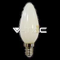 """Св/діодна лампа V-TAC 4Вт филамент Е14 2700К """"свічка"""" біле скло"""