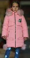 """Детское зимнее пальто  для девочек """"Стрекоза"""" от 2х до 7 лет"""