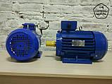 Электродвигатель АИР132S6 - 5,5 кВт 1000 об/мин. Асинхронный Трехфазный., фото 2