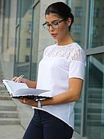 Молодіжна жіноча біла блузка Iris (S, M, L, XL)