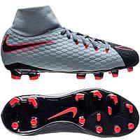Детские футбольные бутсы Nike Hypervenom Phelon III DF FG 917772-400