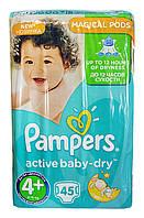 Подгузники Pampers Active Baby-Dry Maxi Plus 9-16 кг, Эконом 45шт.