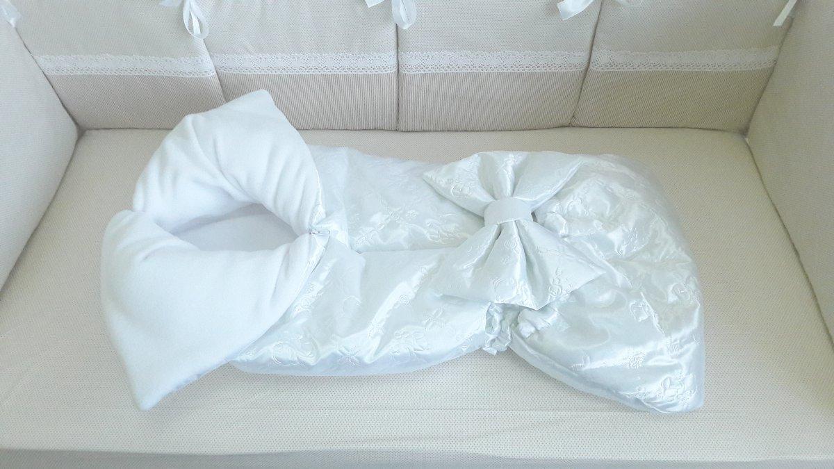 """Конверт-одеяло на выписку с капюшоном """"Полина"""" 90/85 атлас мишки"""