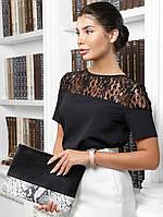 Молодіжна жіноча чорна блузка Iris