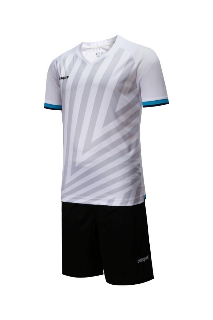 Футбольная форма Europaw 016 бело-черная