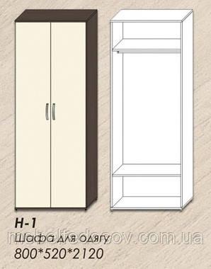 шкаф платяной хьюго континент