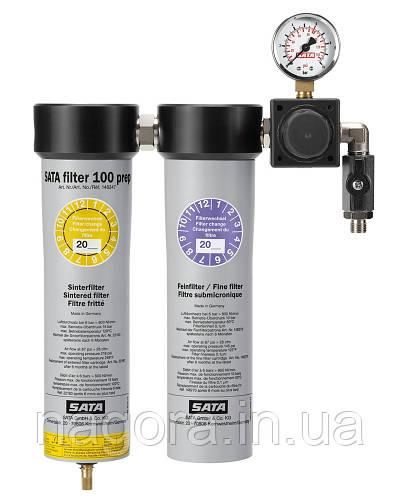 SATA 100 prep комбинированный фильтр тонкой очистки с двумя выходами с внешней резьбой 1/4