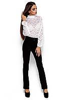 Женская блузка из гипюра, белая, размер 42-48