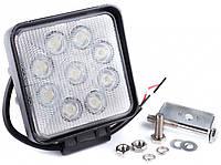 Фара дневного света универсальная светодиодная подвесная 128х110х58 мм, LED 9x3 Вт