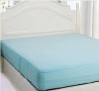 Непромокаемый наматрасник с юбкой на большую кровать бамбук 200*230