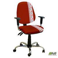 Эргономичное компьютерное кресло Бридж хром Украина №3 с механизмом Multi Fix для подростков и взрослых ТМ AMF 245348