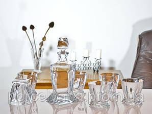 Набор для виски Bohemia Quadro 6+1