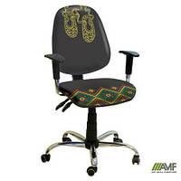 Эргономичное компьютерное кресло Бридж хром Украина №4 с механизмом Multi Fix для подростков и взрослых ТМ AMF 242313