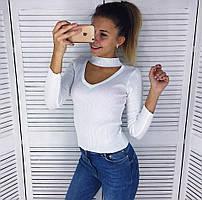 Женский свитер чокер