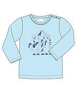 Батник для мальчика ТМ СМИЛ: цвет -Голубой,размер-80 см,12 мес