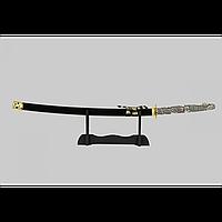 Японский самурайский меч катана со стойкой для меча. Сувенирная сабля.
