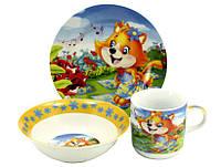 Детский набор посуды Лисёнок 043