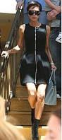Платье черное с молнией впереди через все платье