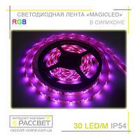 Светодиодная лента RGB Magicled 5050 30 LED 7,2W/m IP54 (в силиконе), фото 1