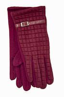 Перчатки универсальные бордового цвета
