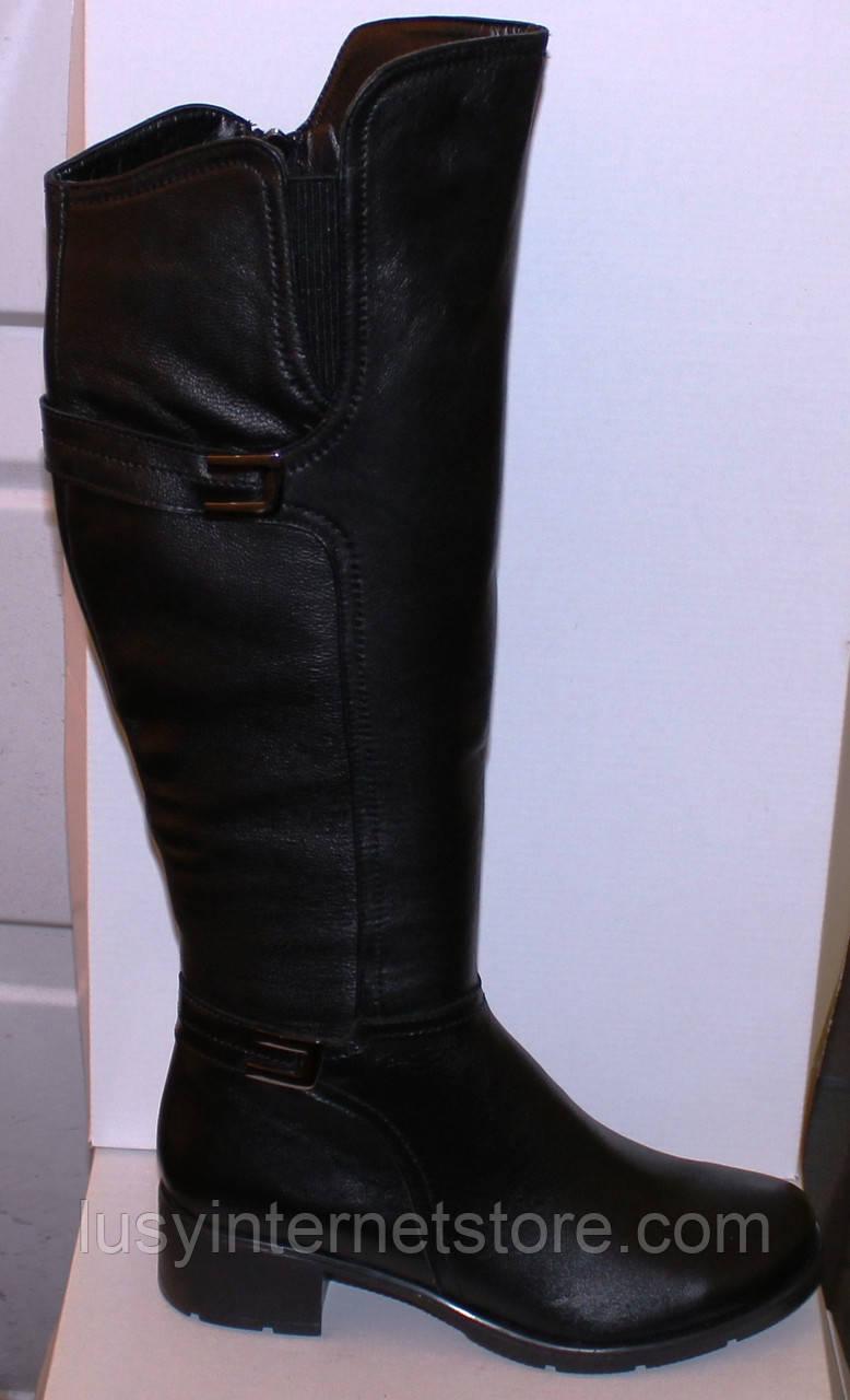 e6a8b5db2 Высокие женские кожаные сапоги демисезонные, сапоги от производителя модель  БМ741В