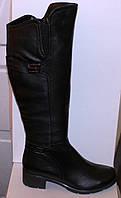 Высокие женские кожаные сапоги, сапоги от производителя модель БМ741