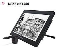 Планшет-монитор графический для рисования UGEE HK1560, рабочая область 344*193 мм, фото 1