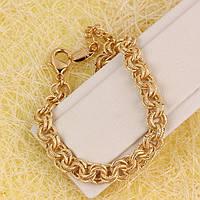 001-0613 - Позолоченный браслет плетение Двойной Бельцер, 19.5-21.5 см