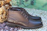Стильные мужские  зимние ботинки натур кожа, цигейка
