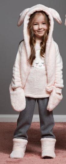Пижама плюшевая теплая для девочки!