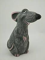 Керамическое изделие ручной работы Копилка мышка Ратто размер 20*9