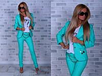 Костюм женский пиджак и брюки в расцветках 14471