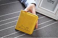 Женский кошелек на кнопке Желтый