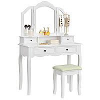 Будуарный столик с зеркалом Fiona 106 + табурет