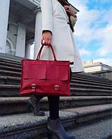 Жіноча шкіряна сумка - портфелькожаная ручної роботи від української майстерні PalMar, натуральна шкіра