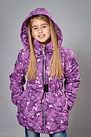 Детская удлиненная куртка-пальто для девочки