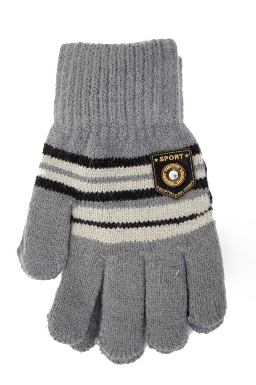 Трикотажные перчатки Корона детск. вязаные S5670-7 светло-серый