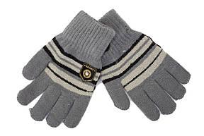 Трикотажные перчатки Корона детск. вязаные S5670-7 светло-серый, фото 2