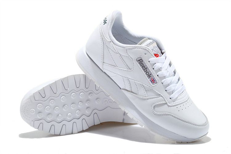 Кроссовки Reebok Classic Leather White Белые мужские реплика