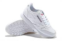Кроссовки Reebok Classic Leather White Белые мужские