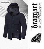 Braggart 'Black Diamond' 4752 | Мужская парка демисезонная черная