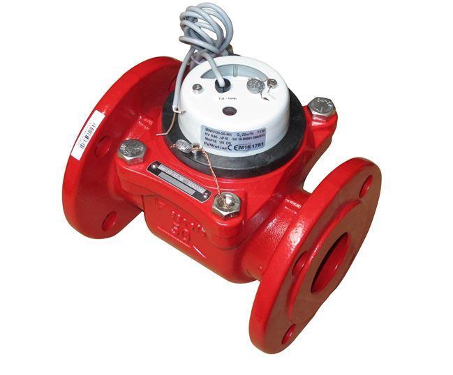 Apator счетчик воды MWN-130-50 NK, DN=50, Qn=15, горячая вода, сухоходный, промышленный.