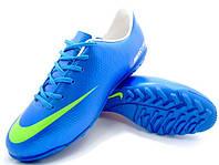 Детские сороконожки Nike Mercurial Victory IV Turf Blue/White, фото 1