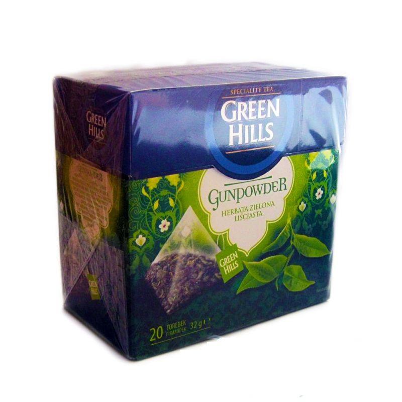 Чай пакетированный Green Hills  Gunpowder  20 пакетов