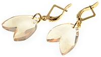 """Серьги """"Джемита"""" покрытые золотом (i076p1r2) (потемнело ушко крепления камня)"""