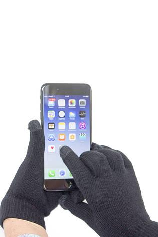 Трикотажные перчатки Корона вязаные Сенсорные 7076 12 пар, фото 2