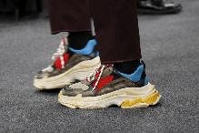 Мужские кроссовки Balenciaga 17FW Tripe-S Dad Shoe Grey/White, фото 3